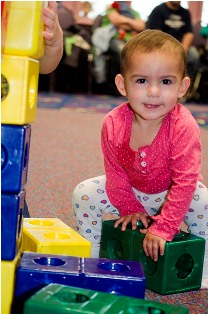 Baby-with-Blocks-Family-Fun-Center-Lakewood-WA